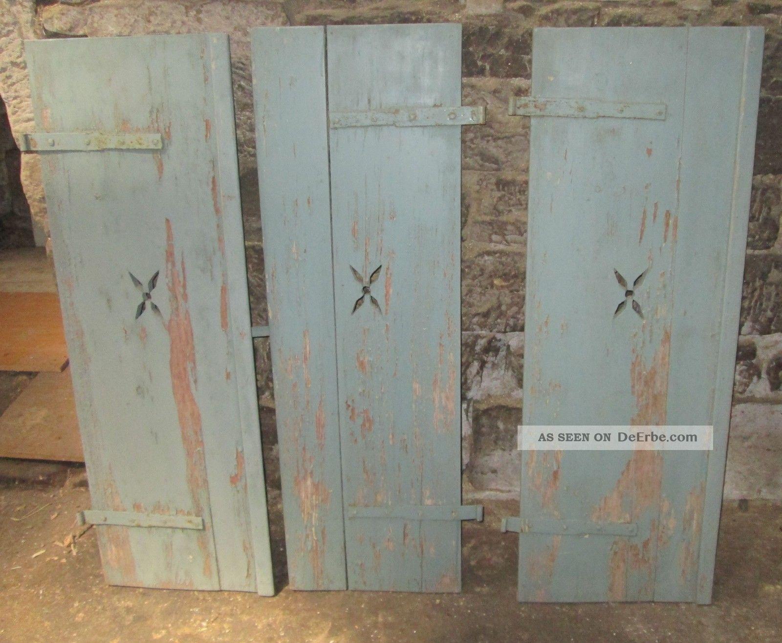 5 paar antike holzklappl den bauernladen holzladen - Antike fensterladen ...