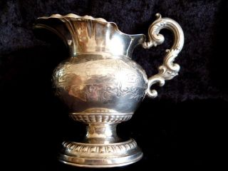 Biedermeier Sahnegießer - Milchkännchen - Silber (geprüft) Punze Xii Bild