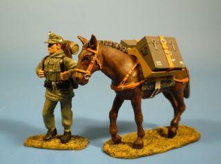 Orig.  Lineol (elastolin) Wehrmacht – Gebirgsjäger Mit Muli Nr.  10 – 7cm Serie Bild