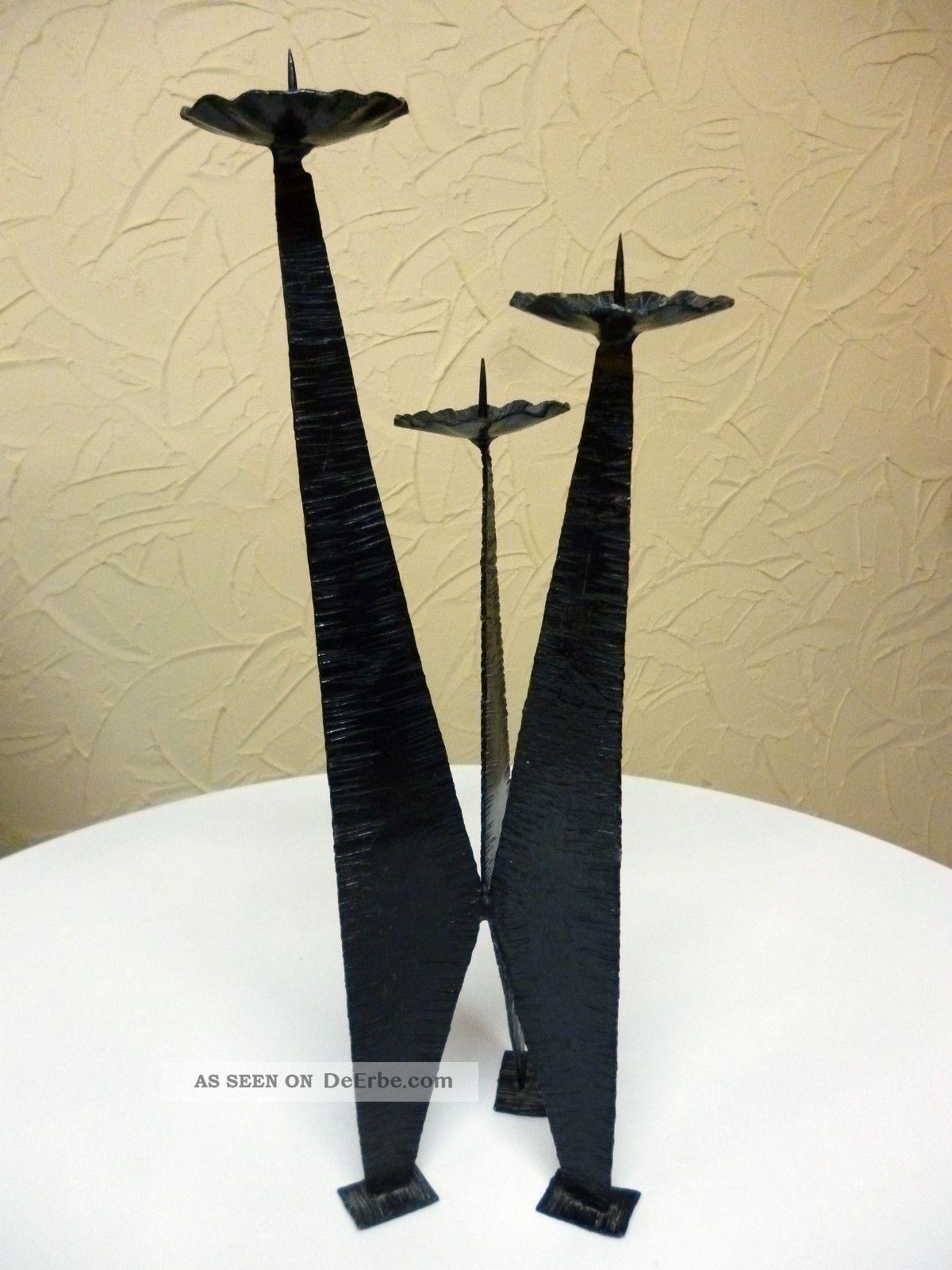 Kerzenst nder metall eisen ddr kunstgewerbe for Eisen dekoration