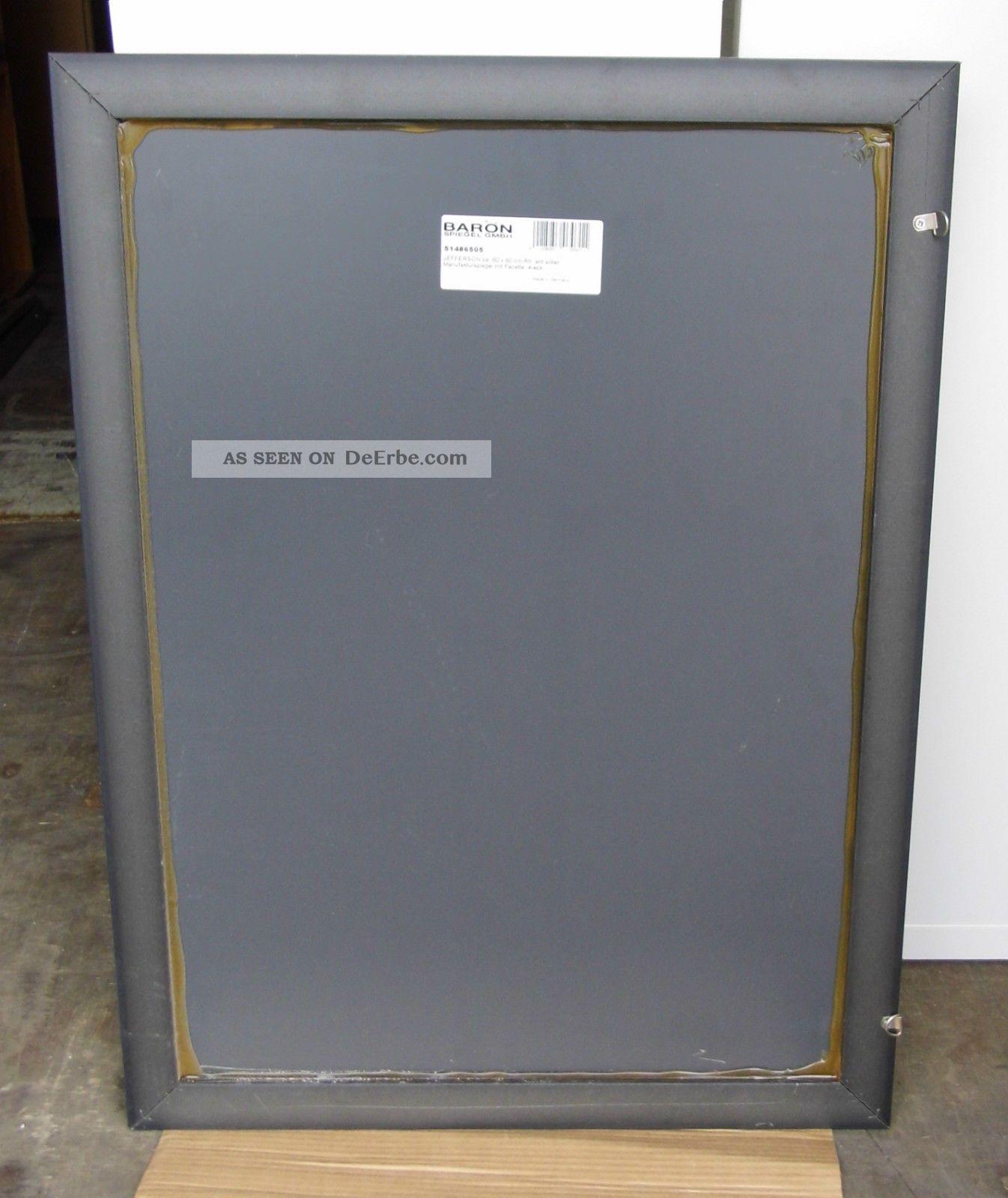 Baron - Manufaktur Spiegel - Facette - 60 X 80 Cm - Rahmen Antik Silber