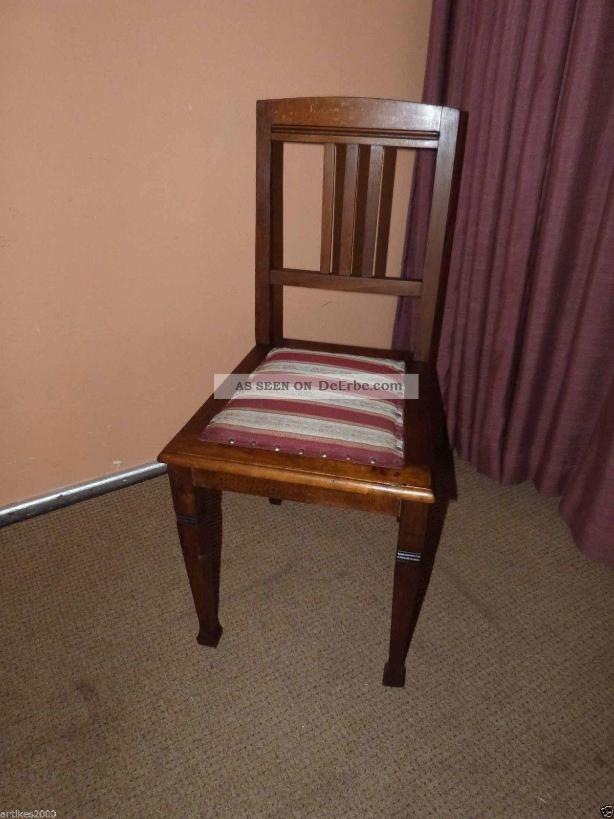 sch ner antiker jugendstil stuhl alter holzstuhl um 1900. Black Bedroom Furniture Sets. Home Design Ideas