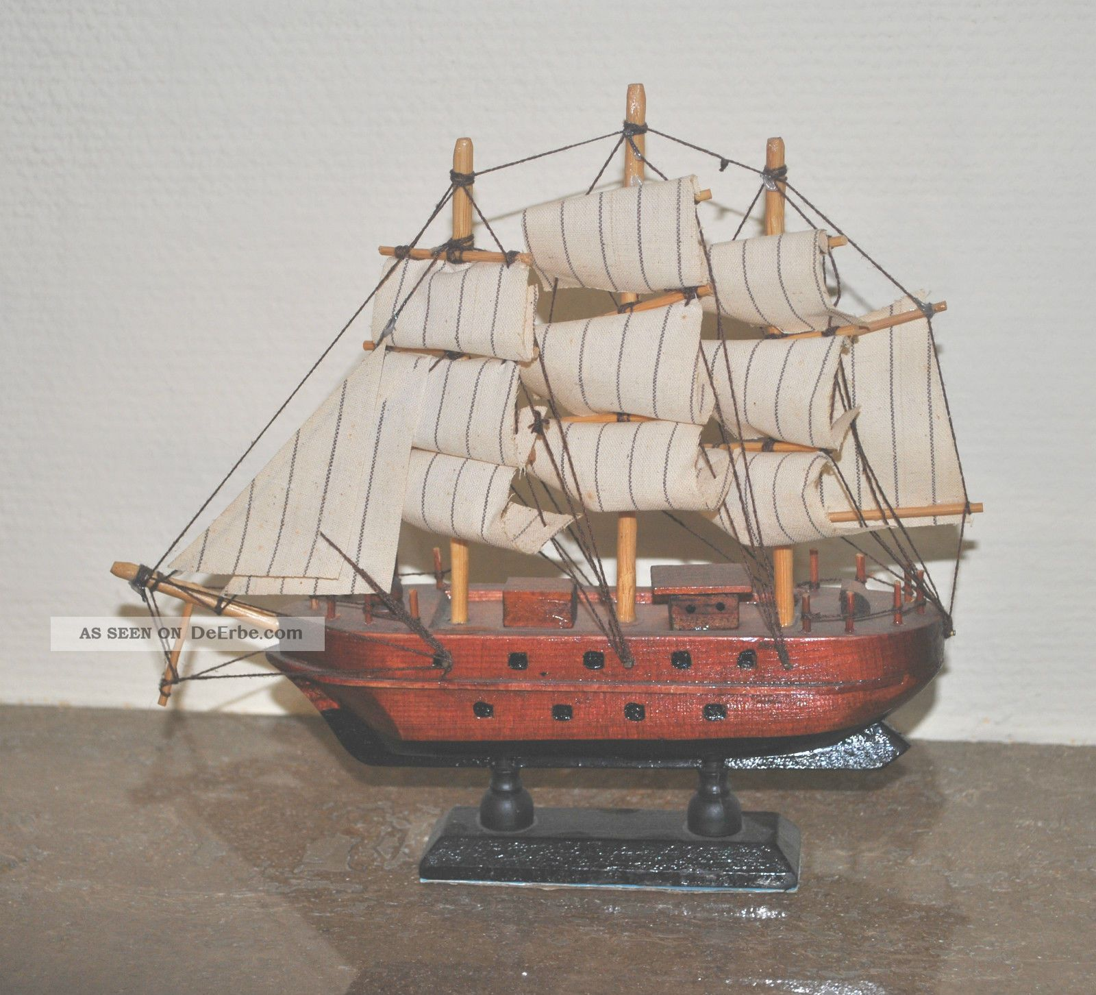 1 schiff aus holz für die vitrine, maritime dekoration