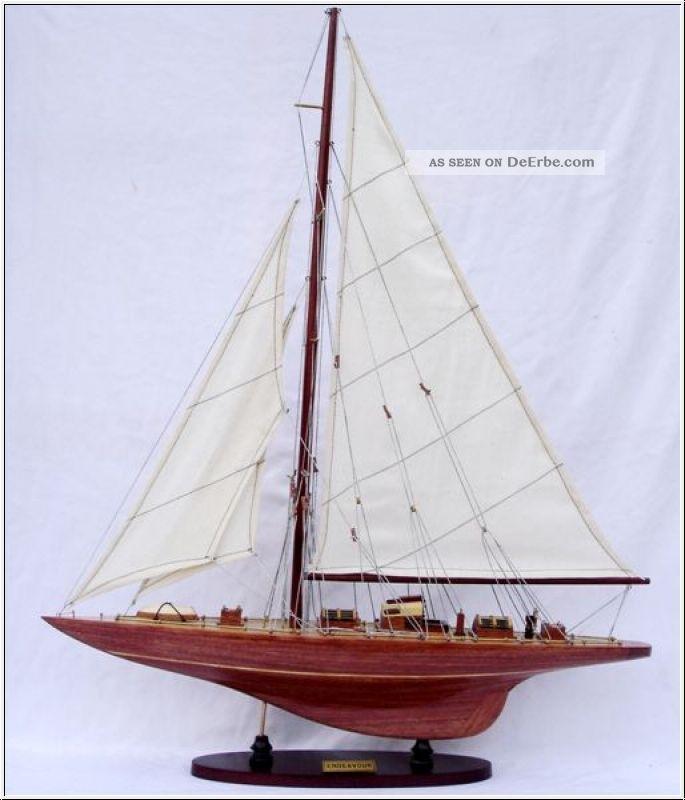 Segelyacht endeavour segelschiff holz modell l 50cm for Maritime deko