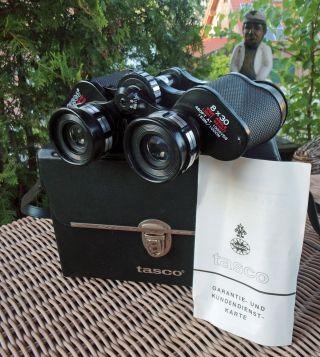 Vintage Fernglas Tasco 320,  Japan Mit Tasche 8x30 460ft,  Binoculars,  Glases Bild