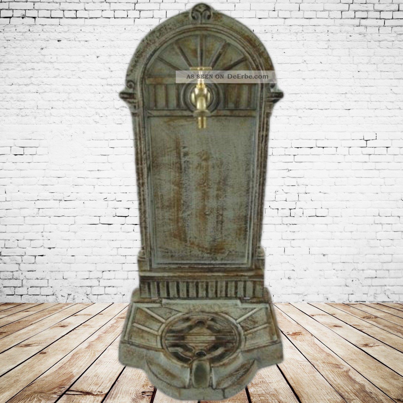 stand brunnen kupfer patina frei stehend eisenguss. Black Bedroom Furniture Sets. Home Design Ideas