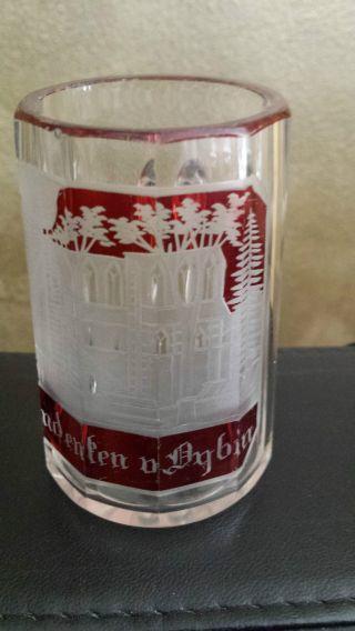 Oybin Andenken Glas Biedermeier Henkelglas Klein Bild