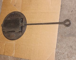 Antikes Waffeleisen Für Alten Herd Lg 64 Mit Stiel Dicke Waffeln 19 X 11 Dm 27 Bild
