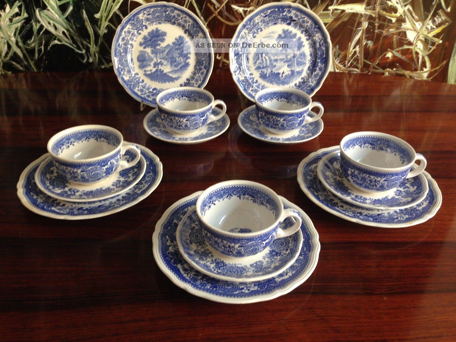 villeroy boch burgenland in blau 5 kaffee oder teegedecke. Black Bedroom Furniture Sets. Home Design Ideas