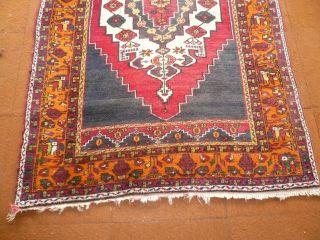 Antiker Orientteppich Wandteppich Handgeknüpft 225x140cm Läufer Bild