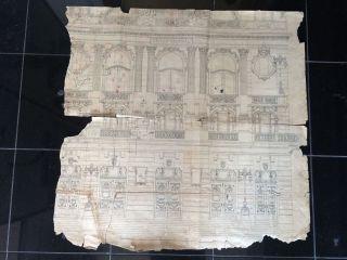 Architektonische Zeichnung Plan Wohl Der Semper Oper In Dresden ? Bild