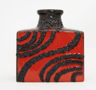 Fat Lava - Vase 281 - Scheurich - Rot/schwarz - 60s / 70s - 19cm Bild