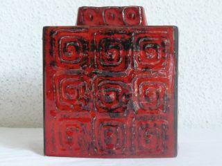 Schlossberg Vase Blockvase 296/15 Fat Lava 60´s Bild