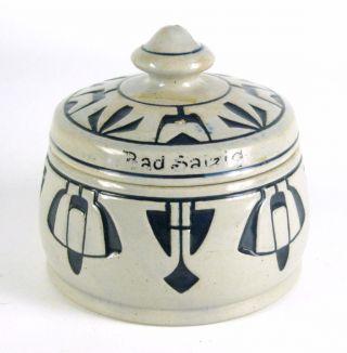 Jugendstil Steinzeug Dose 1711 Ca.  1910 Art Nouveau Stoneware Box Ca.  9cm Bild