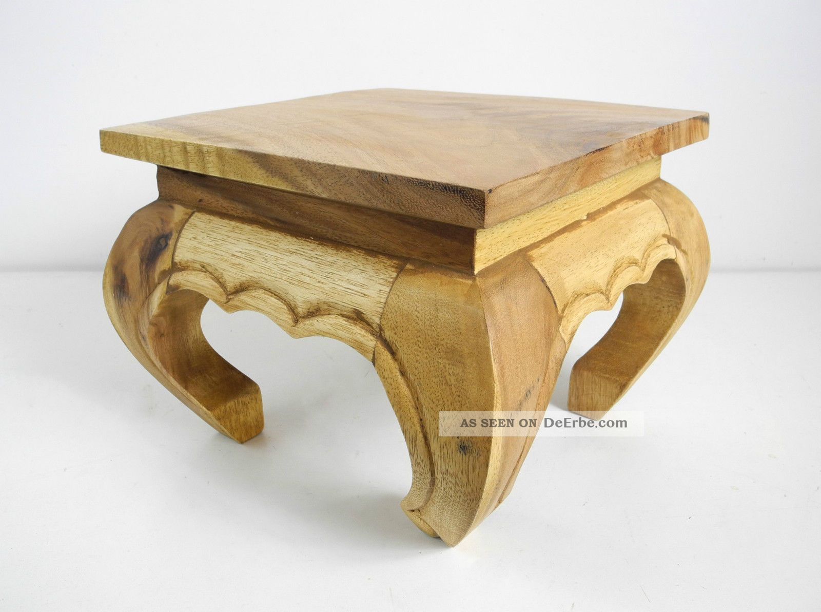 Opiumtisch 25x25cm Massiv Beistelltisch Hocker Holz Tisch ...