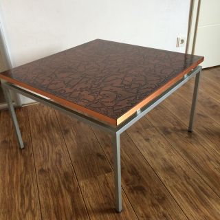 Seltener Ausgefallener Tisch Couchtisch Beistelltisch Metallgestell 60er 70er Bild