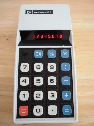 Commodore Taschenrechner Model 886d Inkl.  Tasche,  Ba - Top - Bild