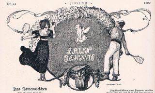 Jugend 31 - 1899 Jugendstil.  Tennis Bild