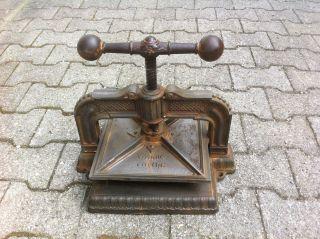 RaritÄt Alte Antike Spindelpresse Für Buchdruck Druckerei Gutenberg Presse Bild