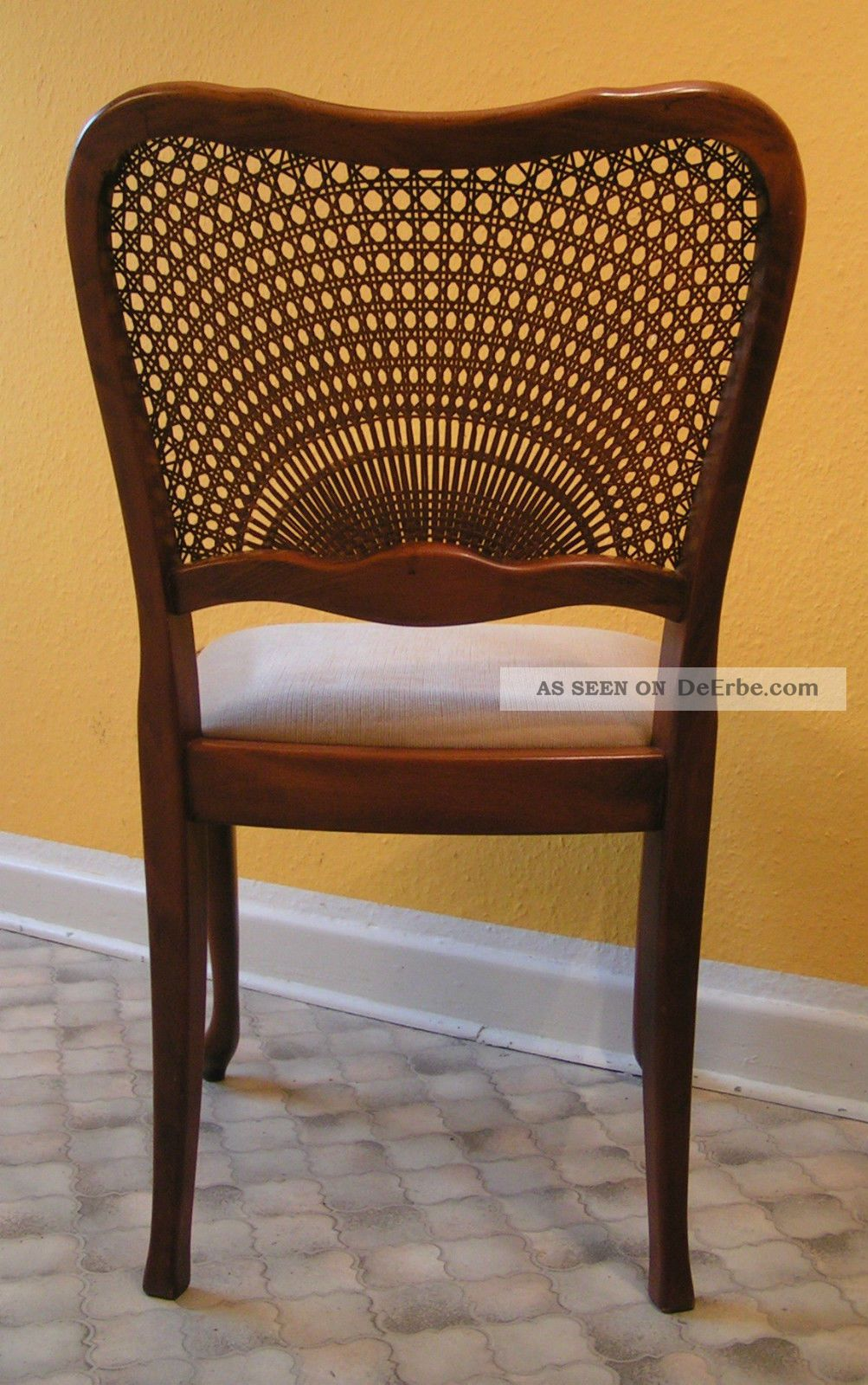 Antik stuhl chippendale wiener geflecht korbgeflecht for Stuhl design epochen