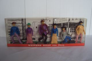 Western Billy Von Plasty,  Wildwest Figuren 60er J.  Ovp Bild