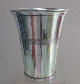 Großer Versilberter Becher Vase Umlaufen Mit Spruch Stern Als Stempel Bild