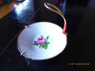Gebäck Porzellanschale 60er Jahre Rose Bild