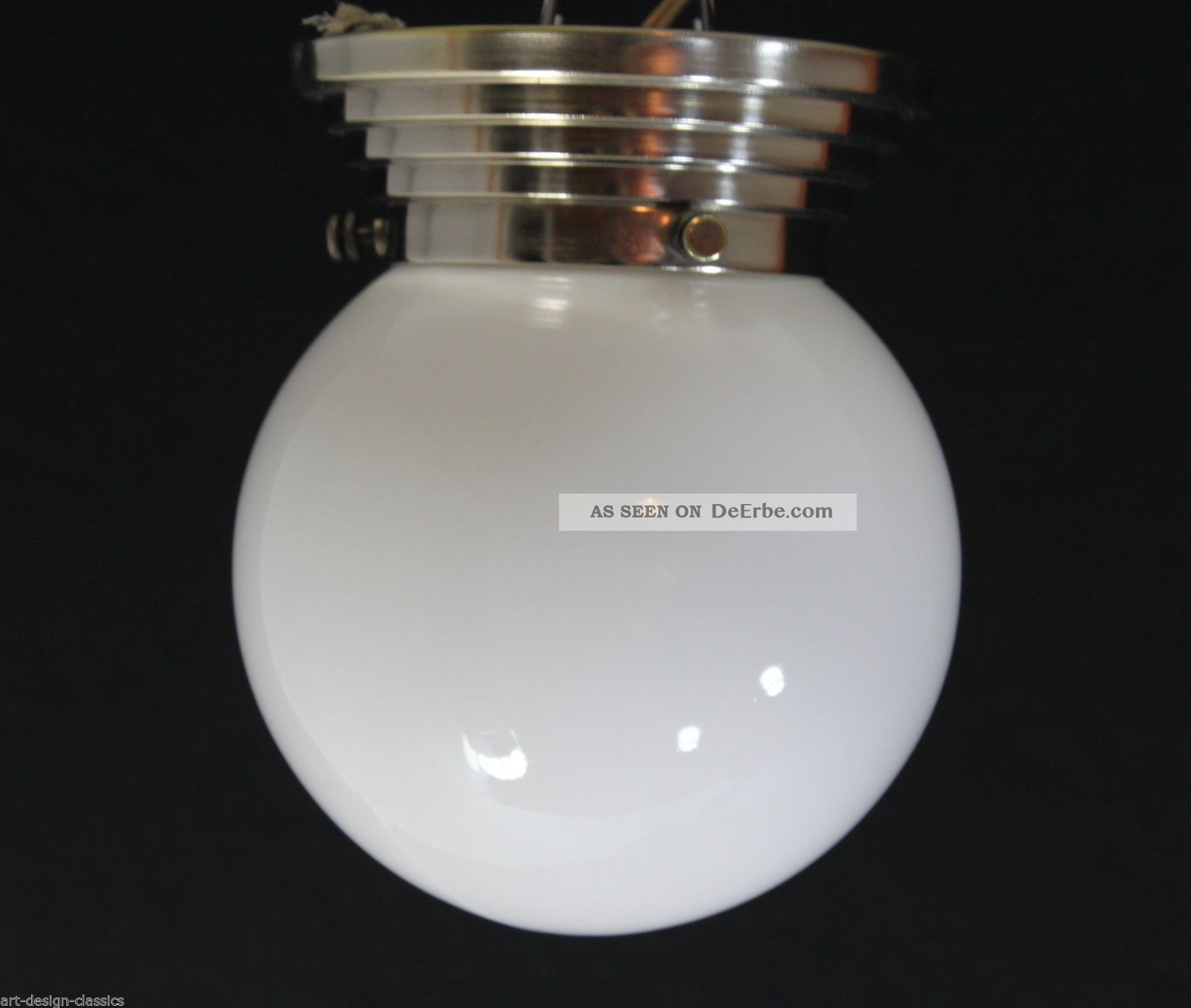 Art Deco Opalglas Lampe Deckenlampe O 15 Cm