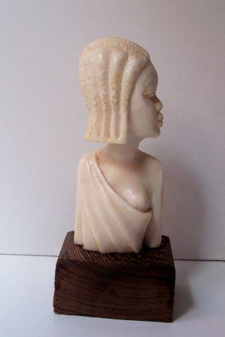 Herrliche Edel Bein Figur Skulptur Congo Bild