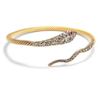 Aus Ägypten: Schlangen Armreif Aus 875 Gold,  Rubin & Diamant / Serpent Bracelet Bild