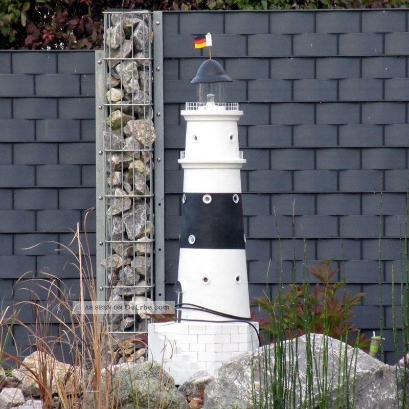 Leuchtturm kampen sylt 120 cm schwarz wei doppellicht for Leuchtturm deko garten