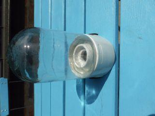 Orig Porzellan Fabriklampe Glaskolben Industrie Design Vintage Bild