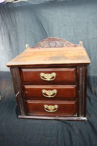 Um 1850 Englischer Schreibtischaufsatz Abschließbar Schubladenschrank Hobbs & Co Bild