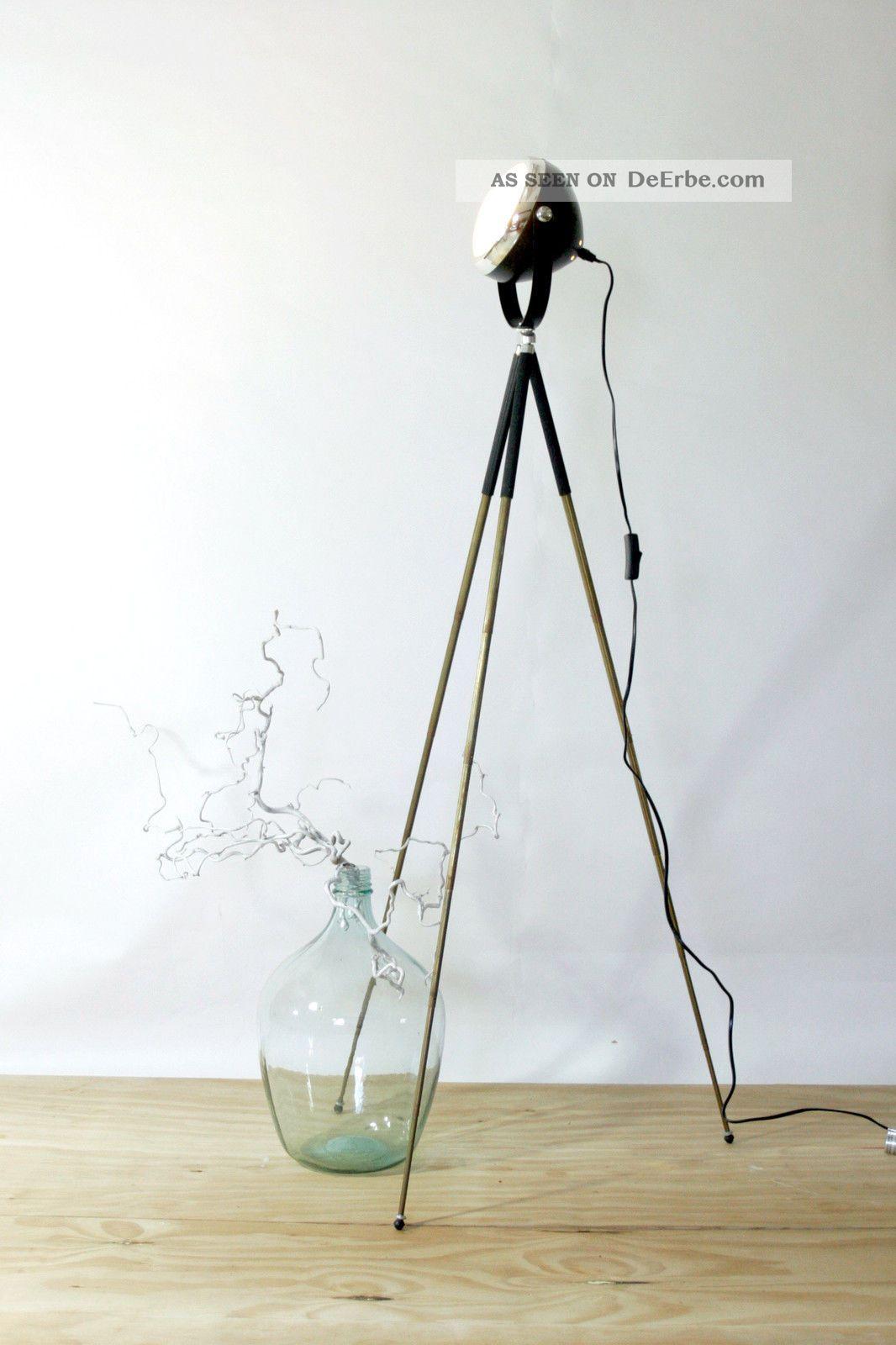 industrie design stehlampe tripod scheinwerfer fabriklampe. Black Bedroom Furniture Sets. Home Design Ideas