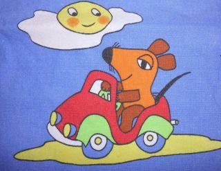 Kinder Bettwäsche Die Sendung Mit Der Maus Stoff Vintage 70er 80er Wdr Kika Süß Bild