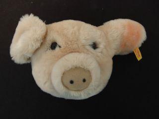 B86) Steiff Tier Schwein Sammler Knopf Im Ohr Bespielt Kind Bild
