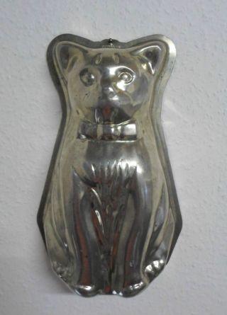 Alte Große Metall Städter Backform Katze Motivform Kuchenform Katzenform,  30,  5cm Bild