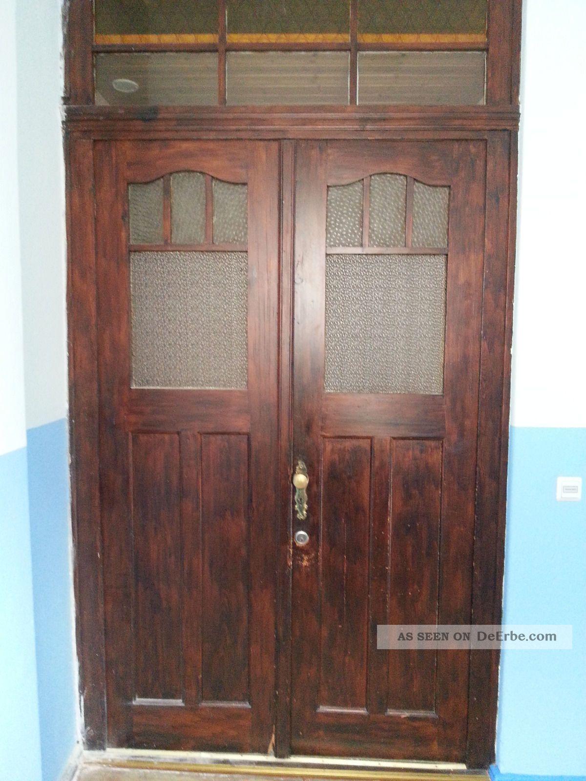 alte haust r mit oberlicht 2 fl glig zarge 115 jahre alt. Black Bedroom Furniture Sets. Home Design Ideas