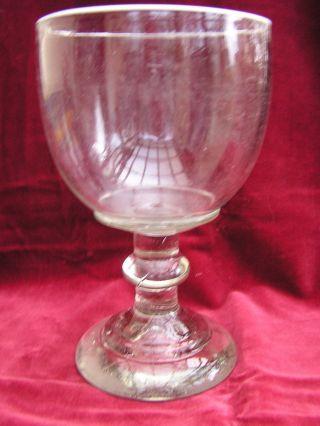 Biedermeier Weißbier Weisse - Glas Weissrandglas Berlin Um 1850 Bild