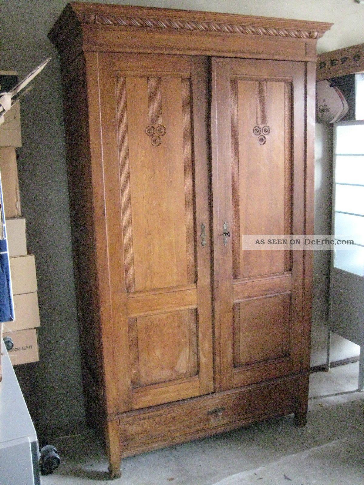 antiker schrank kleiderschrank 20 30er jahre nu baum. Black Bedroom Furniture Sets. Home Design Ideas