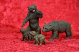 4 Lineol Sammelfiguren Bären Massefiguren Bärenfamilie Tiere Masse Wildtiere Bild