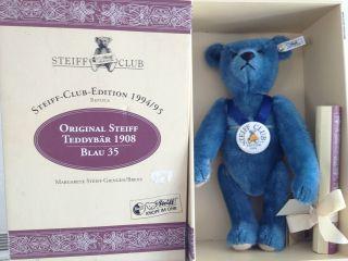 Steiff Bär Replica In Blau Bild
