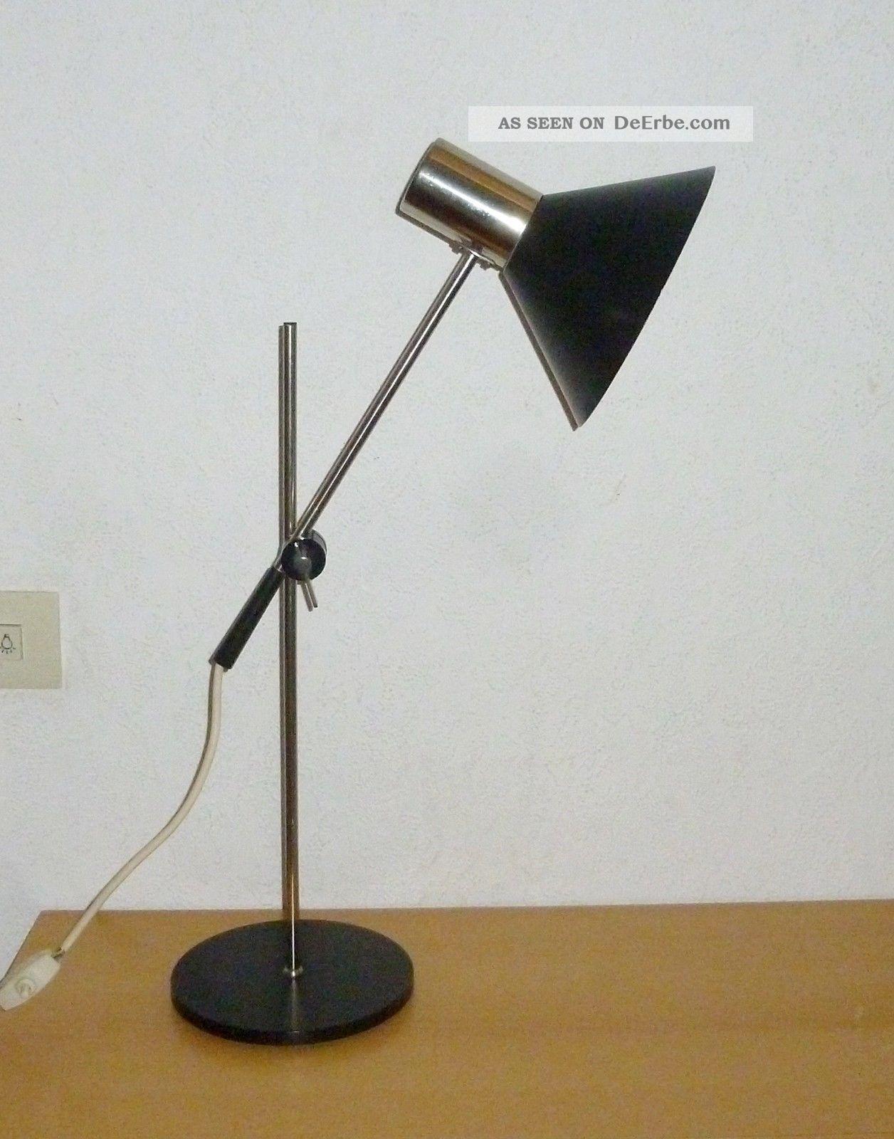 50er 60er Jahre Stehlampe Tischlampe Staff Lampe Spot Lamp Chrom