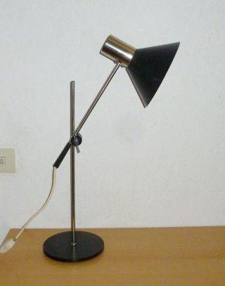 50er 60er Jahre Stehlampe Tischlampe Staff Lampe Spot Lamp Chrom Metall/schwarz Bild