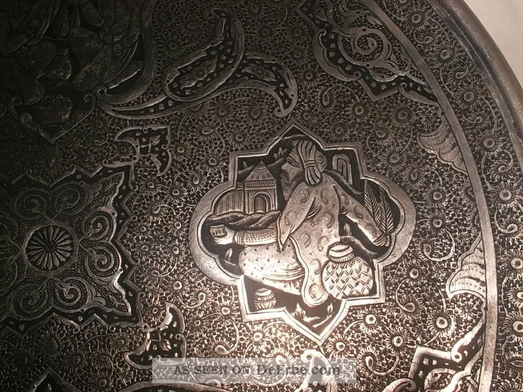alter verzierter wandteller islam kunst orientalisch tablett handarbeit metall. Black Bedroom Furniture Sets. Home Design Ideas