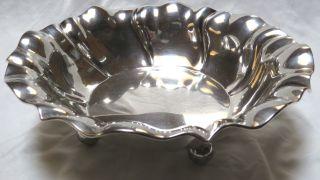 Große Jugendstil Obstschale - Massiv 800er Silber - 8 X 25 Cm - Gewicht 405g Bild