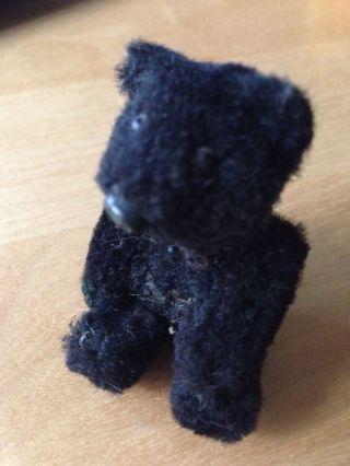 Sehr Schöner Alter Schuco Mini - Teddybär - Ca 7 Cm Schwarz Bild