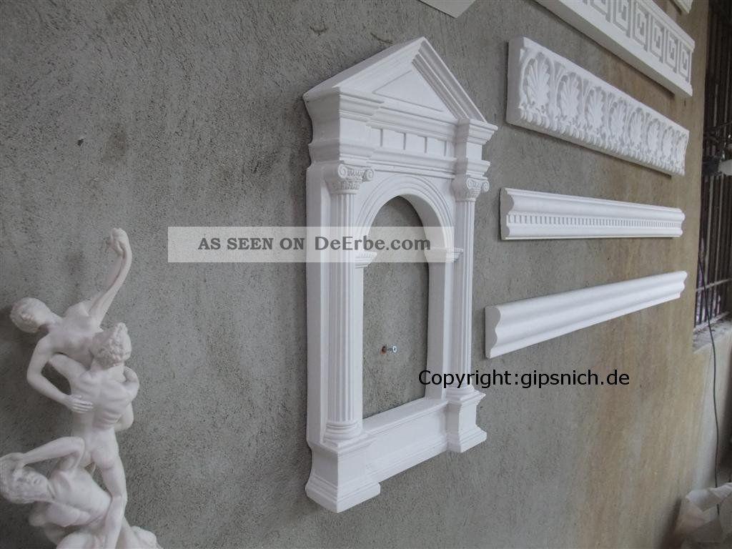 Gips dekor rahmen klassizismus sch n deko f r bild und spiegel for Gips decor images