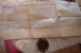 Lothar Friedrich Von Metternich: Pergament - Urkunde Mit Siegel Aus Dem Jahr 1674 Bild