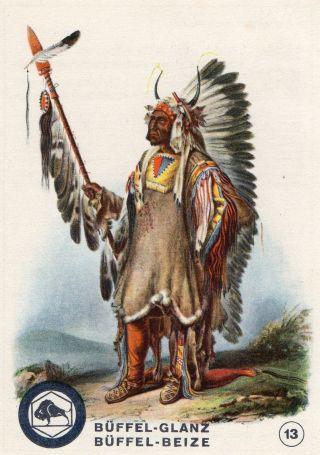 Sammelbild Mato - Tope Büffel - Beize Serie Indianer U.  Ihre Häuptlinge 1931 Bild